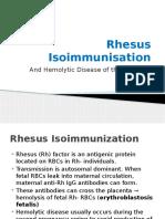 Rhesus Isoimmunisation & Haemolytic Disease of the Newborn Brief