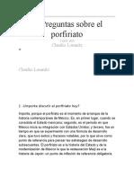 7.- Preguntas Sobre El Porfiriato