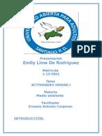 Unidad Numero 1 Educacion Ambiental Introduccion