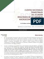 Cuentas Nacionales Ecuador