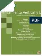3.- Actividad Pensamiento Vertical y Lateral (Erick, Fernanda, Adrian, Isai y Dalia)