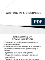 Writing in a Discipline Powerpoint