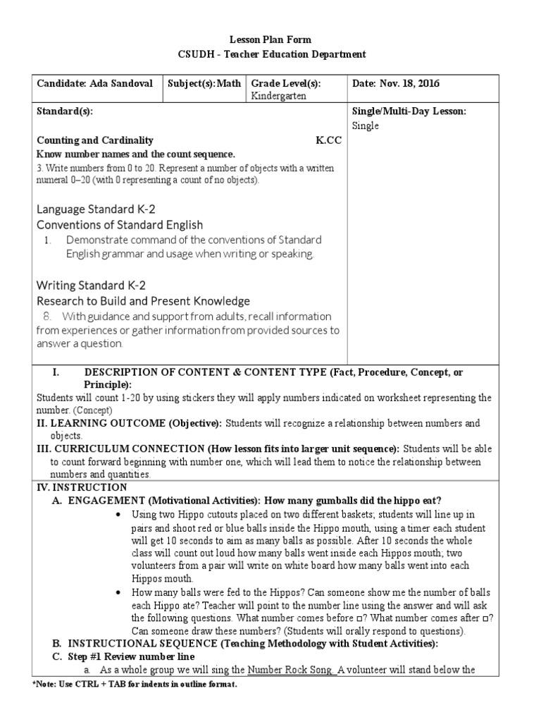 Lesson Plan Form Ada Sandoval Lbs 400 Revised Lesson Plan