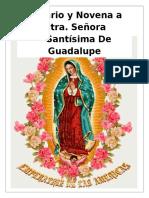 Novena Y Rosario a Nuestra Señora de Guadalupe_para Un Dia