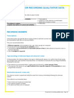 6 1 1 Procedures Recording Qualitative Data