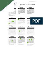 Calendario Laboral Leon 2017