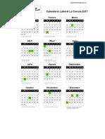 Calendario laboral La Coruña