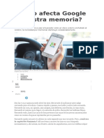 Cómo Afecta Google a Nuestra Memoria