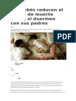 Los bebés reducen el riesgo de muerte súbita si duermen con sus padres.docx