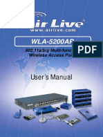 AirLive WLA-5200AP Manual