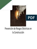 Prevencion de Riesgos Electricos en La Construccion