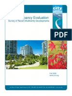 Post Occupancy Evaluation Survey of Recent Multifamily Developments