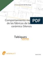 Comportamiento Mecánico de Las Fábricas de Ladrillo Cerámico Silensis