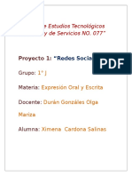 """""""Redes Sociales"""" 1er. Parcial. Proyecto 1."""