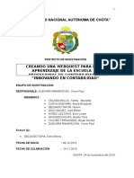 UNIVERSIDAD NACIONAL Tic Proyecto Presentar