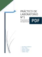 Química General PRÁCTICO DE LABORATORIO N°1