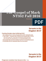Disciples in His Kingdom Mark 9.30_50 NT352 Fall 2016
