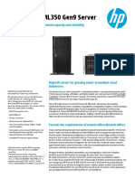 HP ProLiantML350Gen9 DataSheet