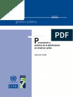 pensamiento y practica de la planificacion en américa latina
