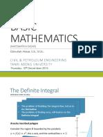 (11) BASIC MATH the Definite Integral