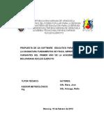 TESIS PROPUESTA DE UN SOFTWARE  EDUCATIVO PARA LA ENSEÑANZA DE LA ASIGNATURA FUNDAMENTOS DE FISICA