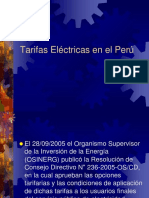 Tarifas Eléctricas 2016