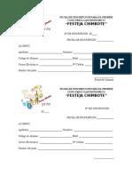Ficha de Inscripcion Para El Primer Concurso Gastronomico