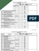 Listado de Repuestos Seccion Instrumentacin y Ele