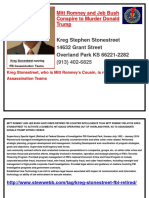 Kreg Stonestreet Is Running FBI Assassination Teams .docx