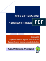Sistem Akreditasi Nasional Dalam Penjaminan Mutu Pendidikan Tinggi