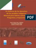 IDL_ en Defensa de Los Derechos de Los PI Manual Para Lideres Comunales