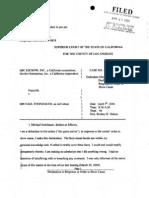 ABC Escrow Inc. / Alcohol Enterprises Inc. v Michael Steinhauer - Response