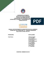 Gaby Cedeño-Manual de Procedimientos Administrativos Virgen Del Valle Bless Me