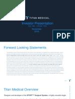 Titan Medical Investor Presentation November 17 2016 1