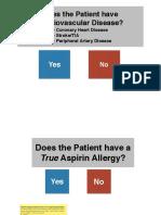 Should Your Patient Recieve Asprin?