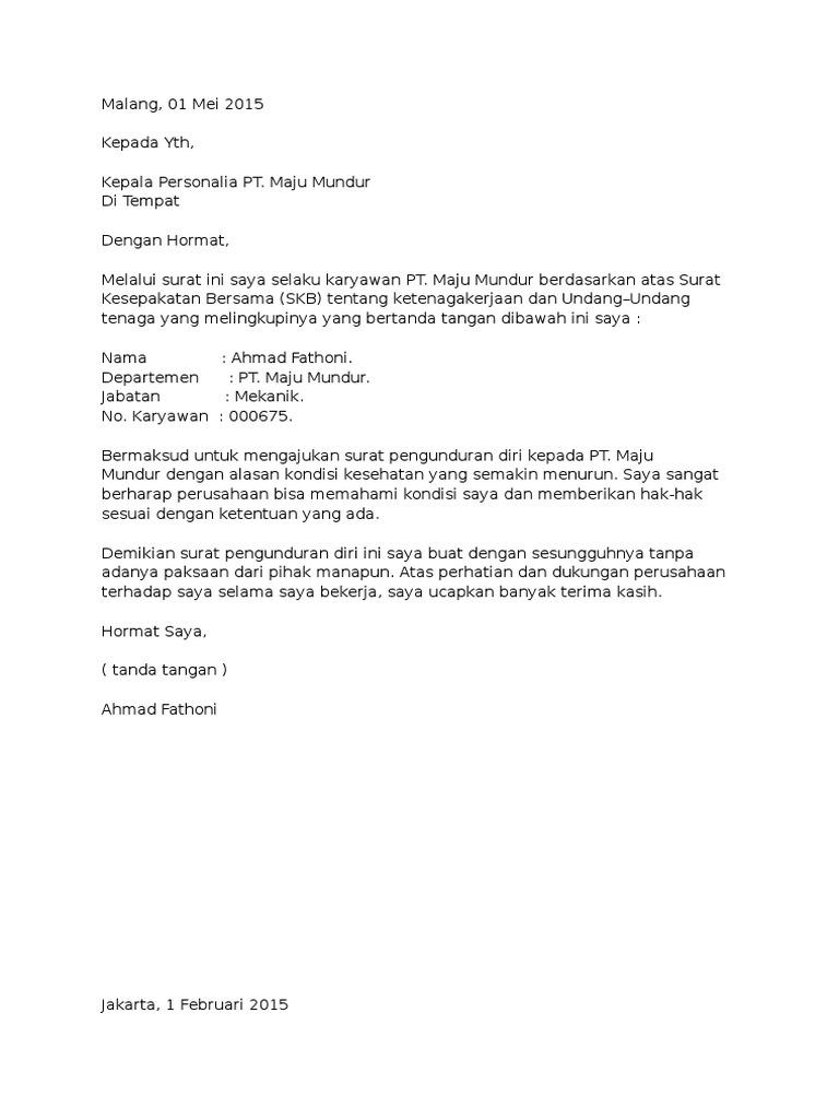 Surat Pengunduran Diri Doc