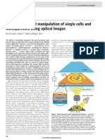 Massively Parallel Manipulation of Single Cells and Microparticles Using Optical Images