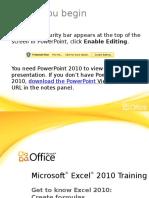 Training Presentation - Get to Know Excel 2010 - Create Formulas