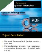 3 - Operator Pemrograman