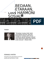 Perbedaan, Kesetaraan, Dan Harmoni Sosial