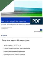 1 Arne Nestegård UTC2010-Deep-water Subsea Lifting Operations