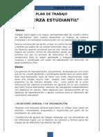 Plan de Trabajo - Fuerza Estudiantil (Revisado)