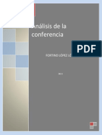 Análisis de La Conferencia