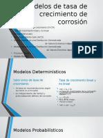 Modelos tasa crecimiento de corrosión