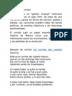 Corrido y Antecedentes de La Revolucion Mexicana