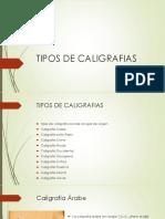 Tipos de Caligrafias