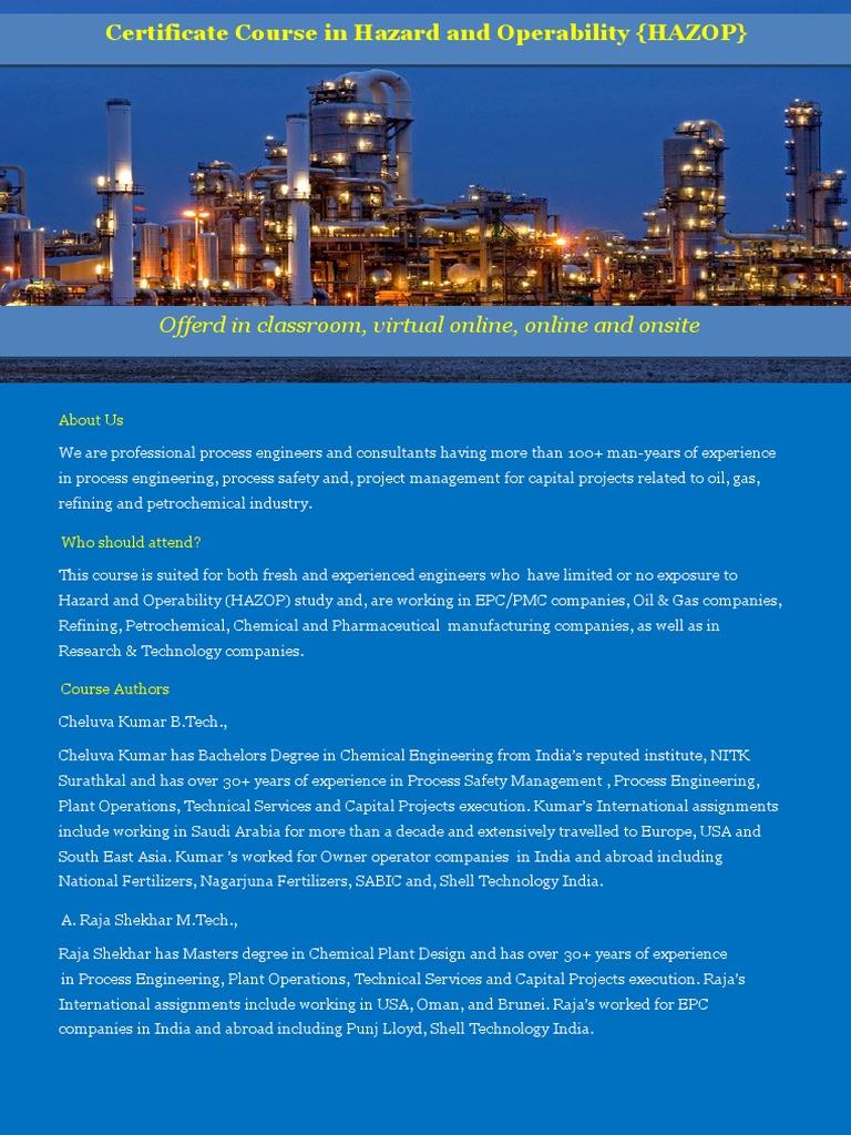 Prentac Hazop Brochure i Rev 0 | Process Engineering | Engineering