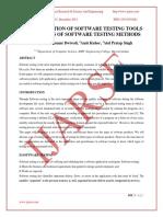 Categorisation of Testing Tools