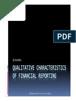 L2 - Qualitative Characteristics of Financial Reporting