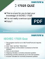 17025 Intro Test